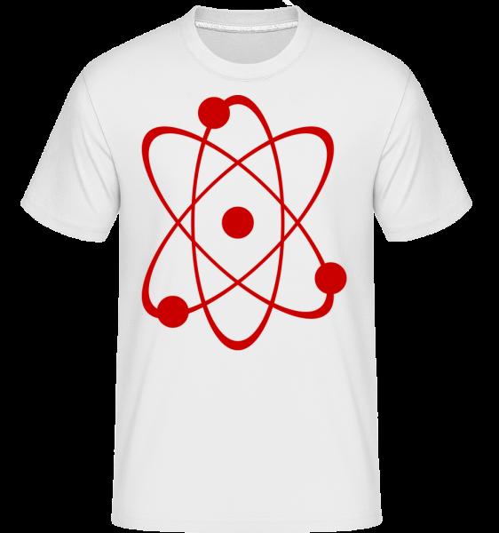 Atom Symbol - Shirtinator Männer T-Shirt - Weiß - Vorn