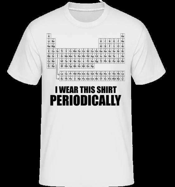 I Wear It Periodically -  Shirtinator Men's T-Shirt - White - Vorn