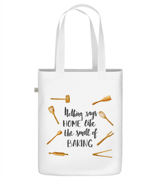 "The Smell Of Baking - Organic ""Earth Positive"" tote bag - White - Front"