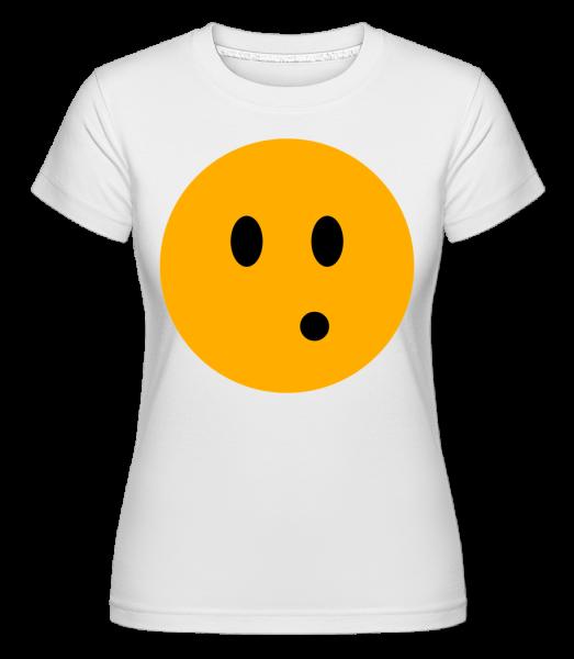 Surprised Smiley - Shirtinator Frauen T-Shirt - Weiß - Vorn