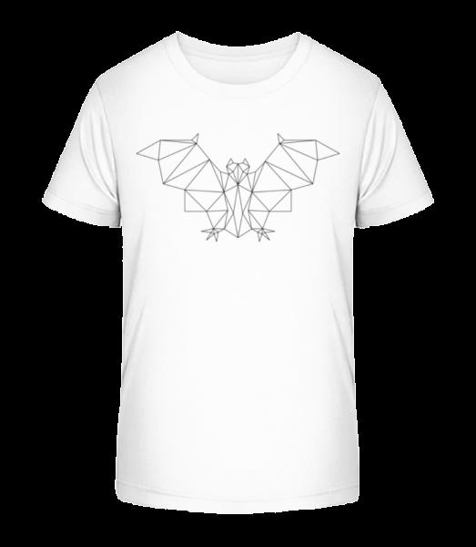 Polygon Bat - Kid's Premium Bio T-Shirt - White - Front