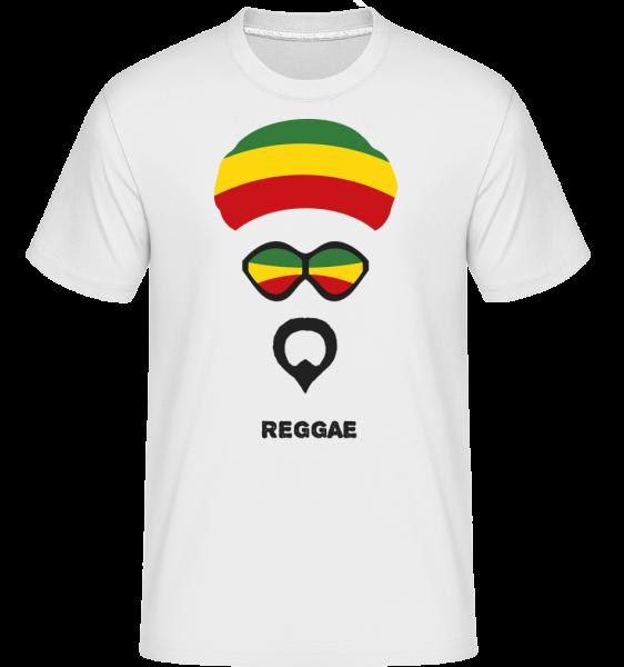 Reggae Face -  Shirtinator Men's T-Shirt - White - Front