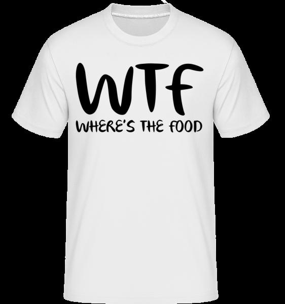 WTF Where's The Food - Shirtinator Men's T-Shirt - White - Vorn
