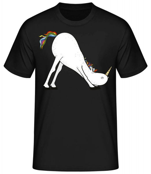 Yoga unicorn The slide - Basic T-Shirt - Black - Vorn