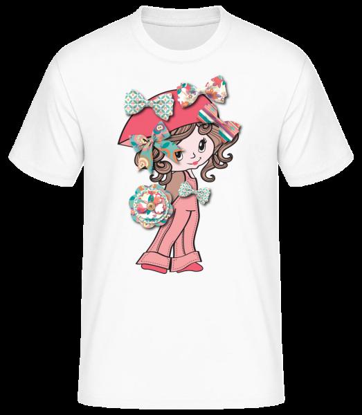 loop girls - Basic T-Shirt - White - Vorn