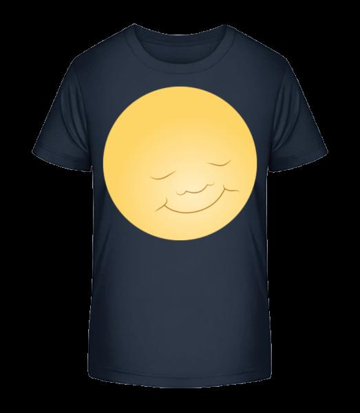 Kids Comic - Sun - Kid's Premium Bio T-Shirt - Navy - Front