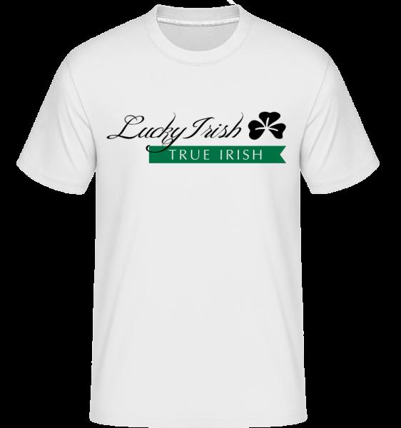 Lucky Irish Sign -  Shirtinator Men's T-Shirt - White - Vorn