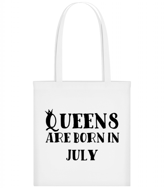 Queens Are Born In July - Carrier Bag - White - Vorn