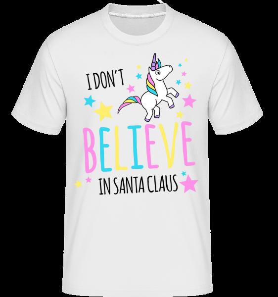 I Don't Believe In Santa Claus - Shirtinator Männer T-Shirt - Weiß - Vorn