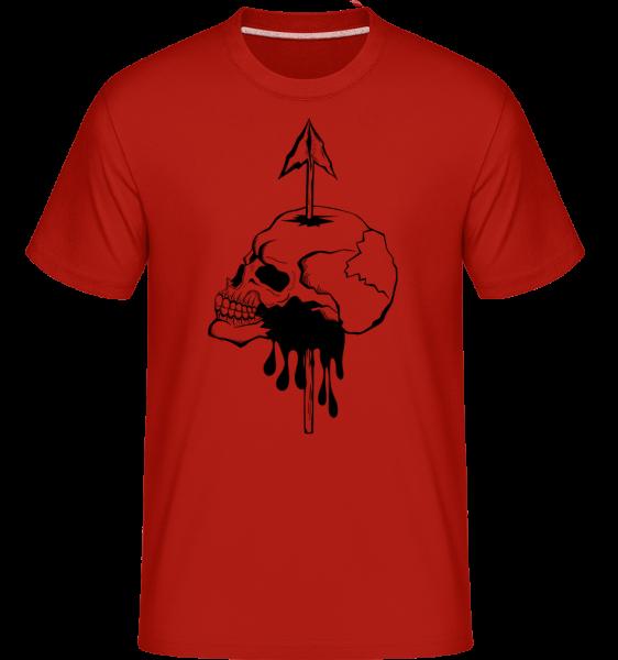 Tod Durch Speer - Shirtinator Männer T-Shirt - Rot - Vorn