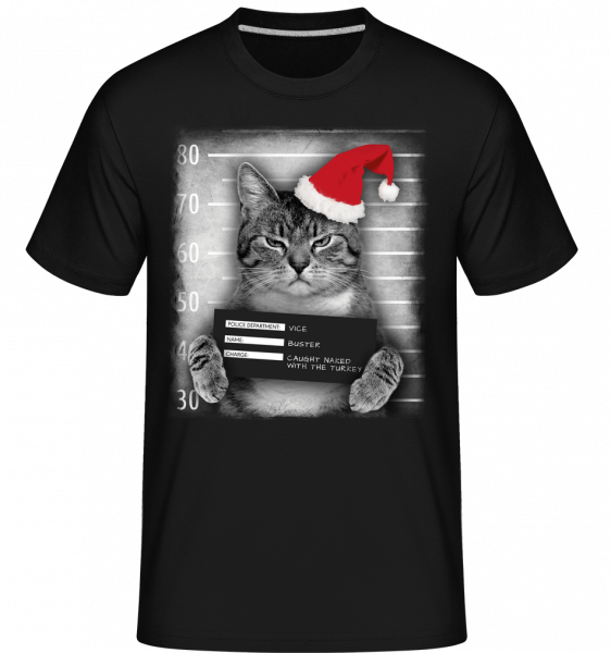 Cat XMas Guilty -  Shirtinator Men's T-Shirt - Black - Vorn
