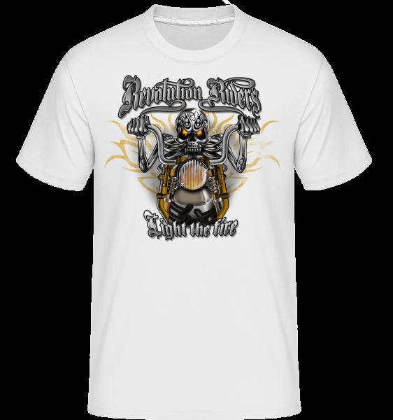 Revolution Riders -  Shirtinator Men's T-Shirt - White - Vorn