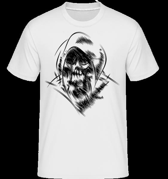 Gothic Skull - Shirtinator Männer T-Shirt - Weiß - Vorn