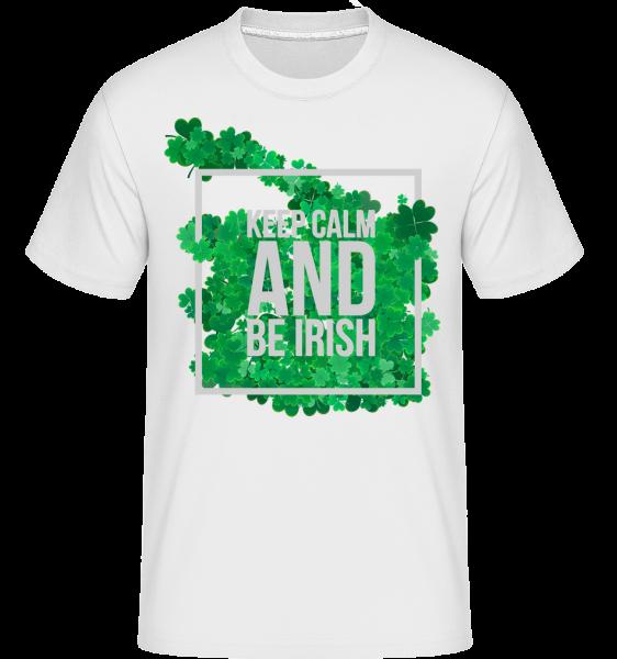 Keep Calm And Be Irish Logo -  Shirtinator Men's T-Shirt - White - Vorn