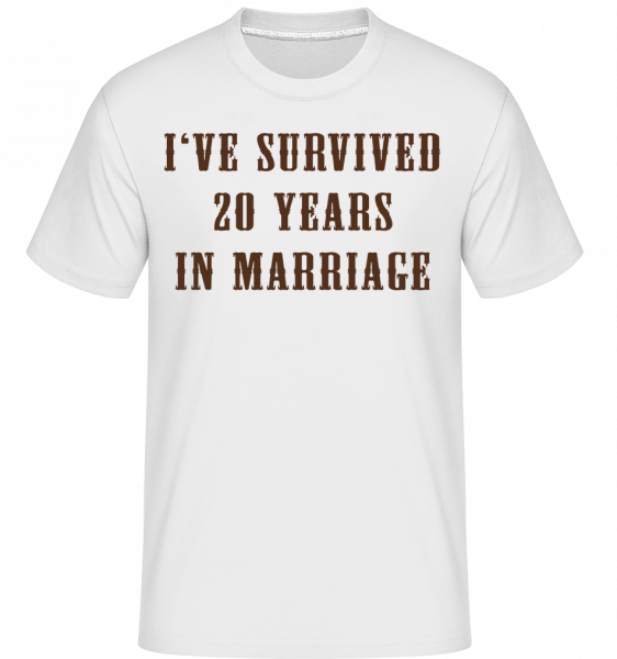 I've Survived 20 Years In Marria -  Shirtinator Men's T-Shirt - White - Vorn