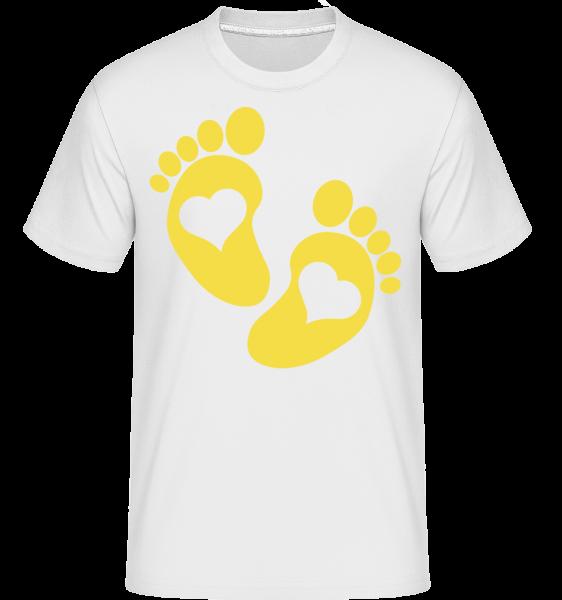 Baby Füße - Shirtinator Männer T-Shirt - Weiß - Vorn