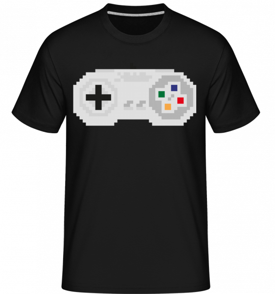 Consoles Controller Oldschool - Shirtinator Men's T-Shirt - Black - Vorn