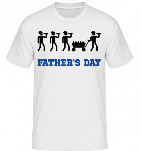 Father's Day - Shirtinator Männer T-Shirt - Weiß - Vorn