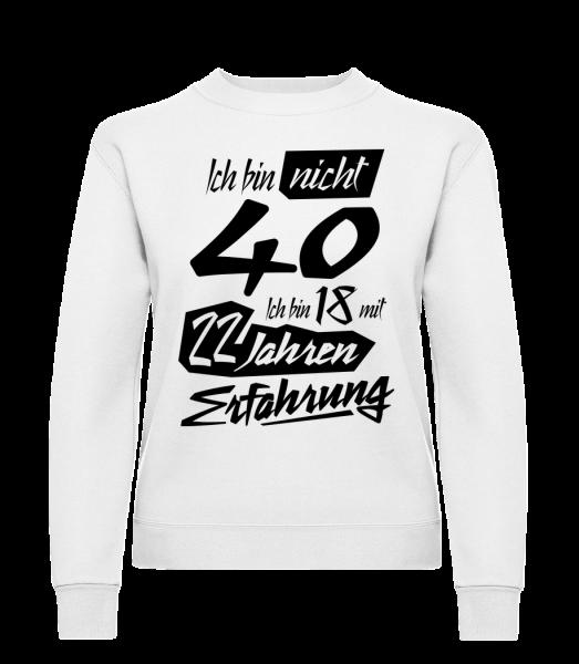 18 Mit 22 Jahren Erfahrung - Frauen Pullover - Weiß - Vorn