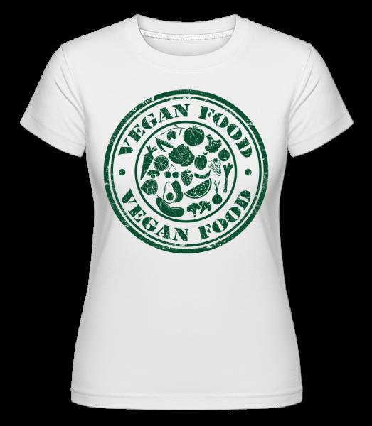 Vegan Food Sign -  Shirtinator Women's T-Shirt - White - Vorn