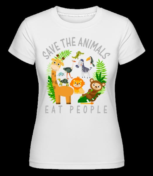 Save The Animals - Shirtinator Frauen T-Shirt - Weiß - Vorn