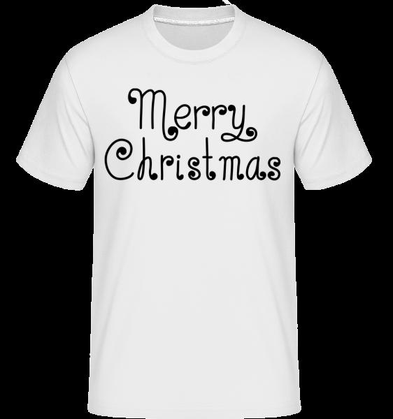 Merry Christmas - Shirtinator Männer T-Shirt - Weiß - Vorn