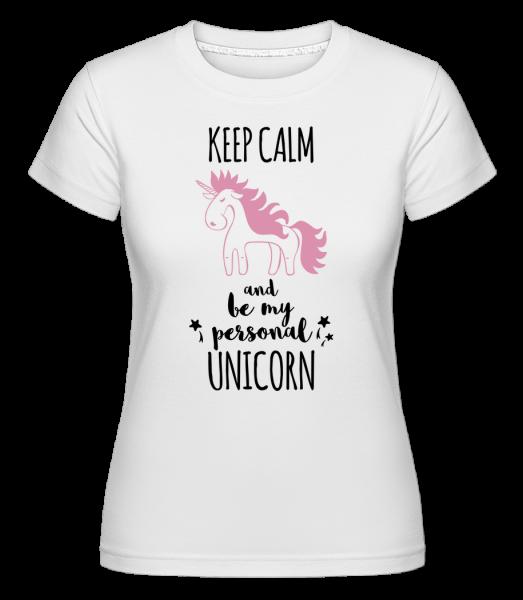 Be My Personal Unicorn - Shirtinator Frauen T-Shirt - Weiß - Vorn