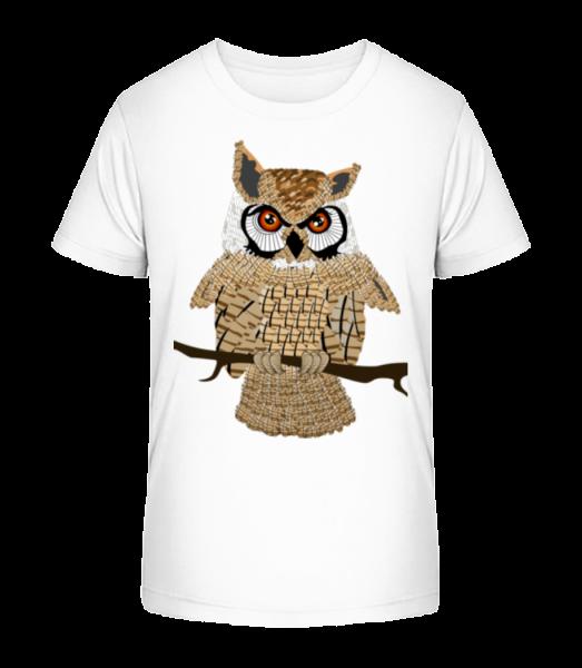 Owl - Kid's Premium Bio T-Shirt - White - Front