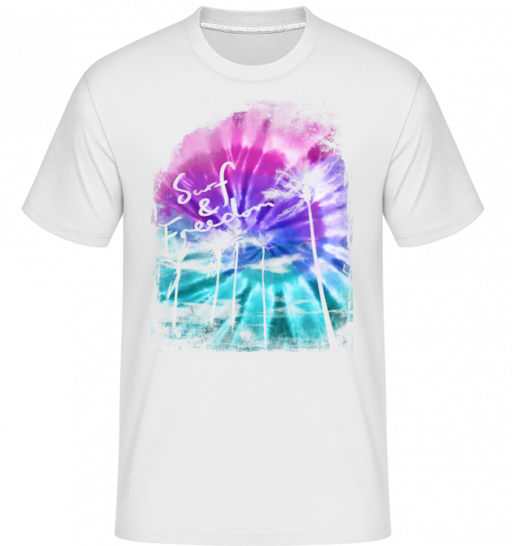 Surf And Freedom -  Shirtinator Men's T-Shirt - White - Front