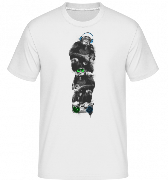 Music Monkeys -  Shirtinator Men's T-Shirt - White - Vorn