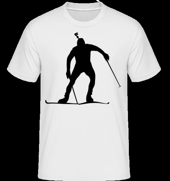 Skiläufer - Shirtinator Männer T-Shirt - Weiß - Vorn