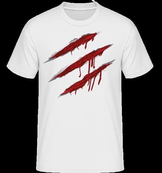 Blutige Kratzer - Shirtinator Männer T-Shirt - Weiß - Vorn