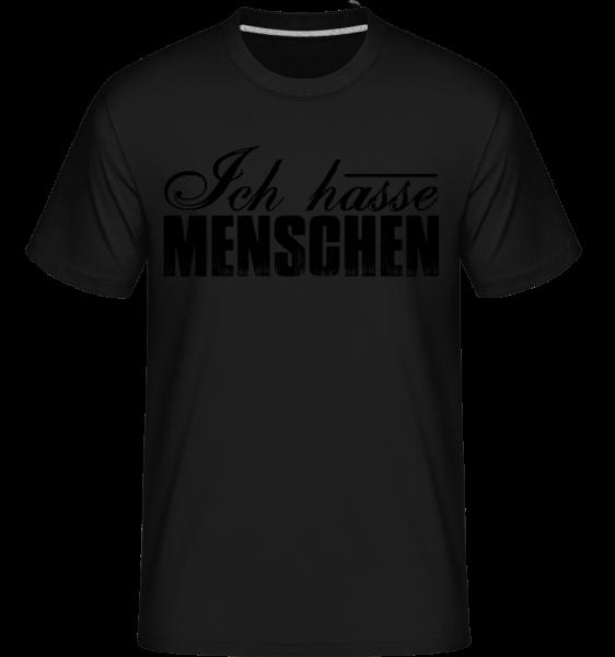 Ich Hasse Menschen - Shirtinator Männer T-Shirt - Schwarz - Vorn