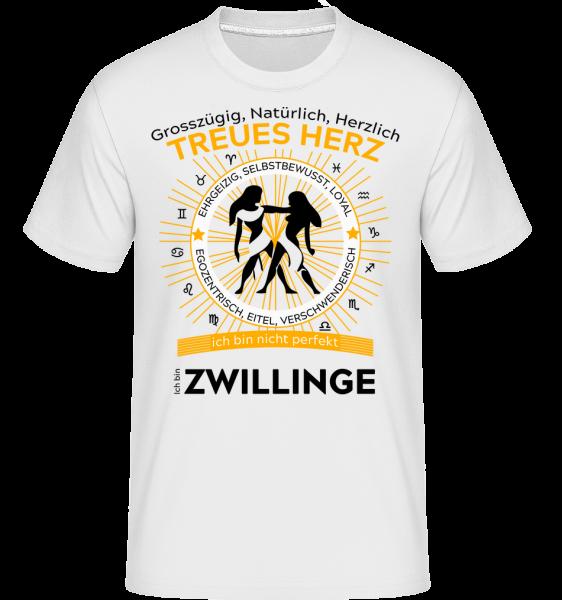 Sternzeichen Zwillinge - Shirtinator Männer T-Shirt - Weiß - Vorn