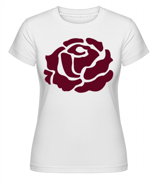 Red Rose - Shirtinator Frauen T-Shirt - Weiß - Vorn