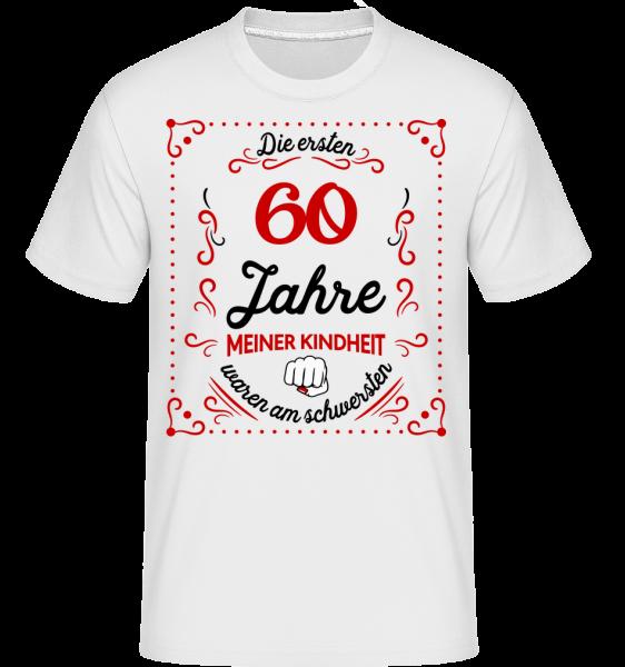 Die Ersten 60 Jahre - Shirtinator Männer T-Shirt - Weiß - Vorn
