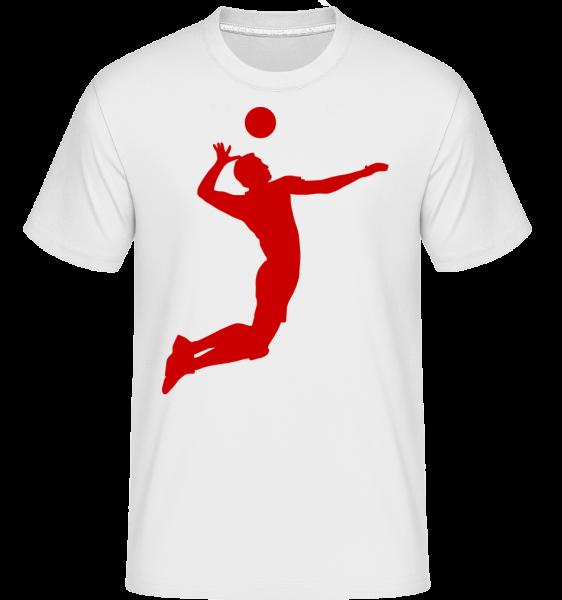 Volleyball - Shirtinator Männer T-Shirt - Weiß - Vorn