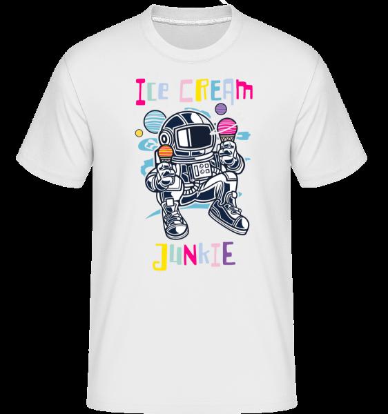 Astronaut Ice Cream -  Shirtinator Men's T-Shirt - White - Front