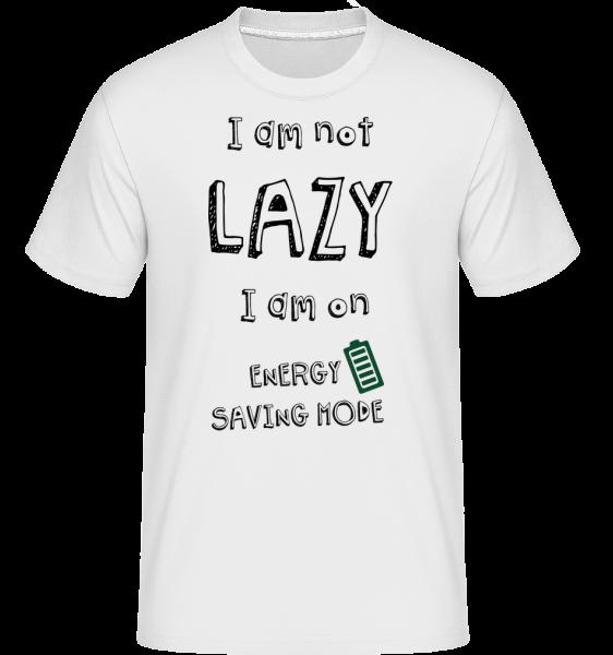 I Am Not Lazy - Shirtinator Männer T-Shirt - Weiß - Vorn