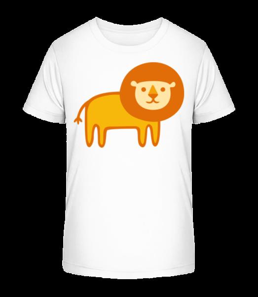 Kids Comic - Lion - Kid's Premium Bio T-Shirt - White - Front