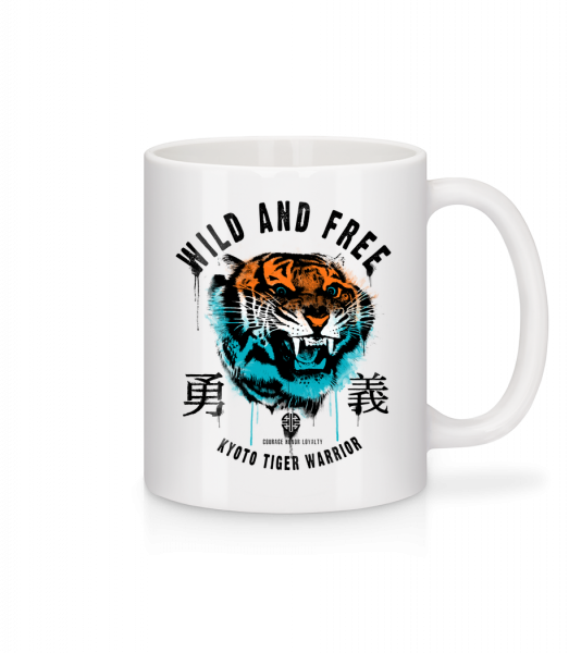 Wild And Free Tiger - Mug - White - Front