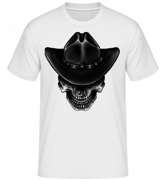 Cowboy Totenkopf - Shirtinator Männer T-Shirt - Weiß - Vorn