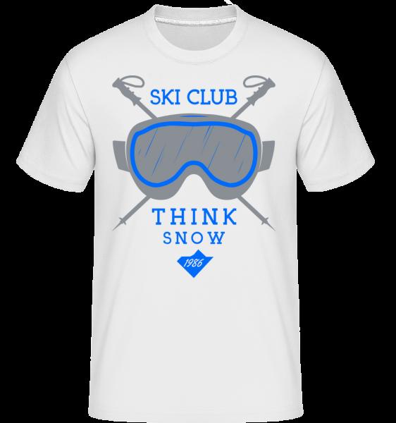 Ski Club Sign -  Shirtinator Men's T-Shirt - White - Vorn
