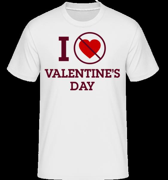 I Do Not Love Valentine's Day -  Shirtinator Men's T-Shirt - White - Vorn