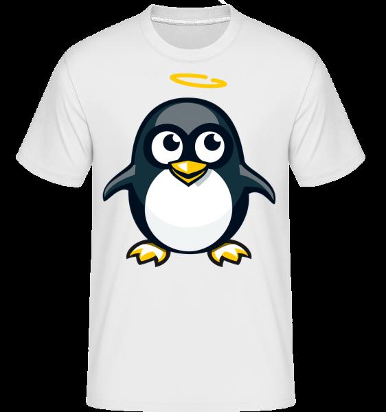 Angel Penguin - Shirtinator Männer T-Shirt - Weiß - Vorn