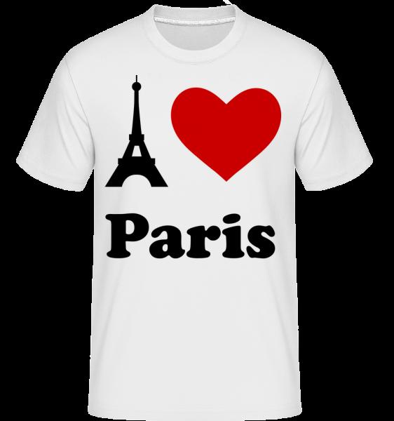 I Love Paris - Shirtinator Männer T-Shirt - Weiß - Vorn