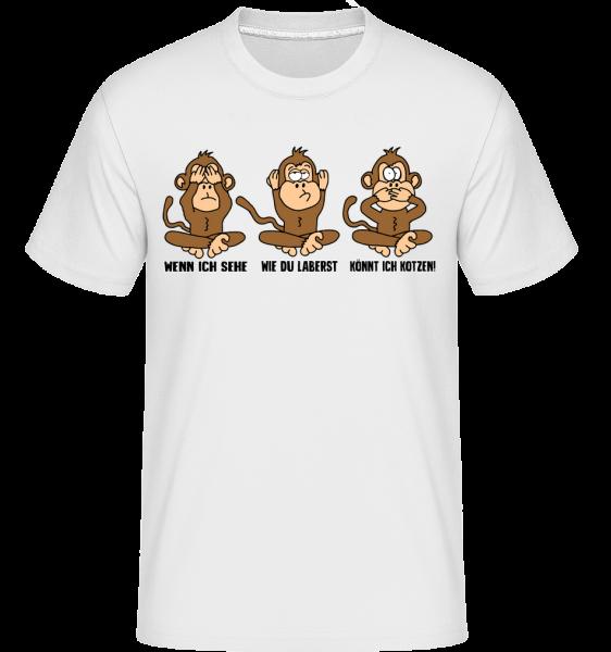 Wenn Ich Sehe Wie Du Laberst - Shirtinator Männer T-Shirt - Weiß - Vorn