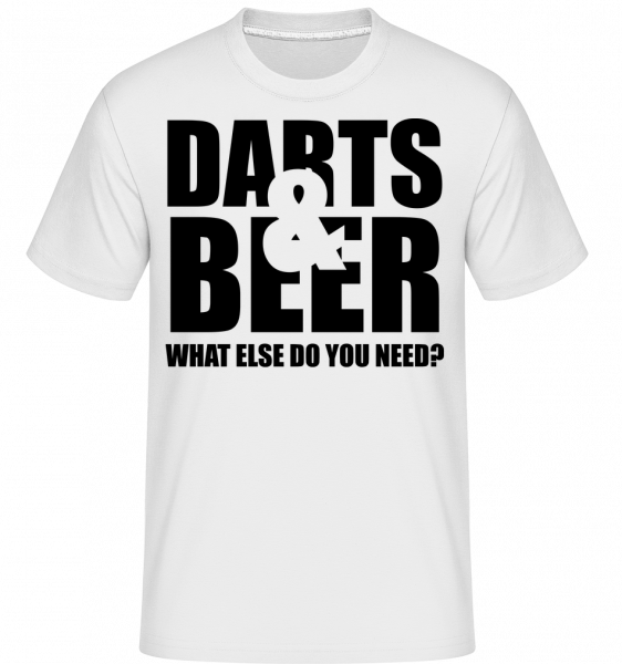 Darts And Beer -  Shirtinator Men's T-Shirt - White - Vorn