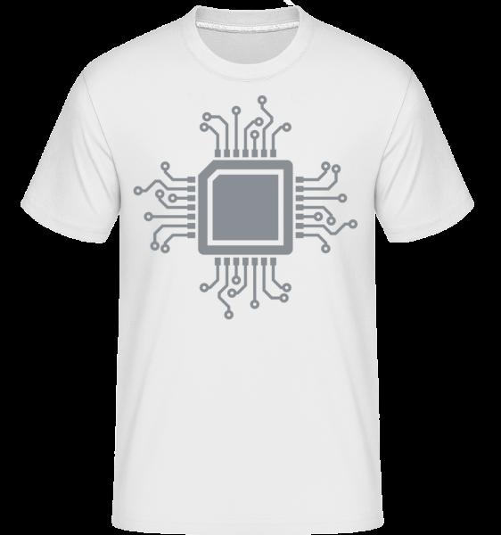 CPU Chip -  Shirtinator Men's T-Shirt - White - Vorn
