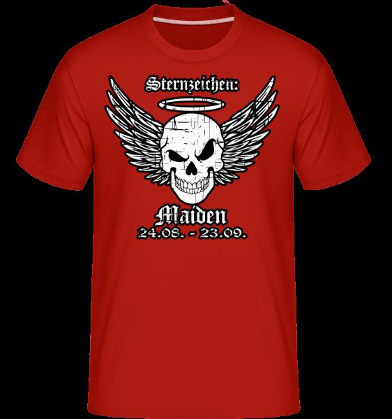 Metal Sternzeichen Maiden - Shirtinator Männer T-Shirt - Rot - Vorn
